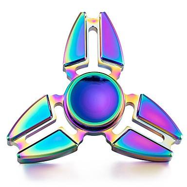 Hand Spinner de Metal Colorido 3 pontas - Rolamento Anti Estresse Fidget Hand Spinner
