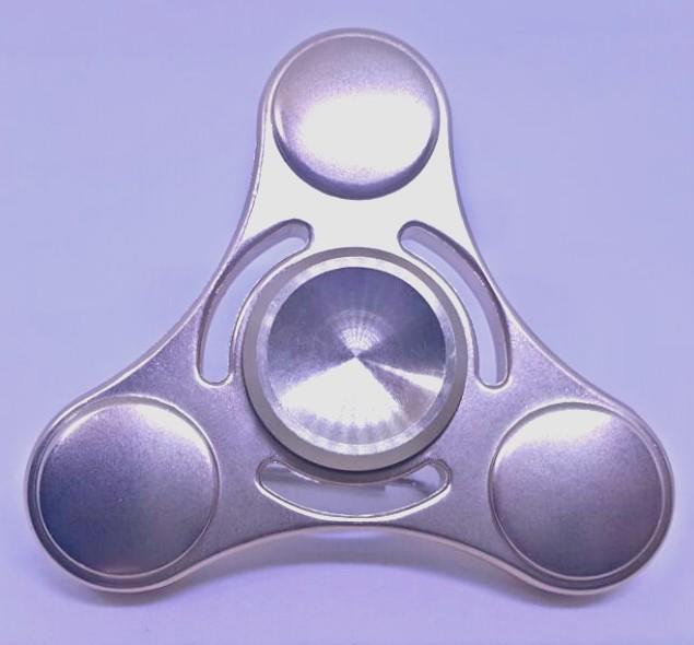 Hand Spinner de Metal Dourado com centro Dourado - Rolamento Anti Estresse Fidget Hand Spinner
