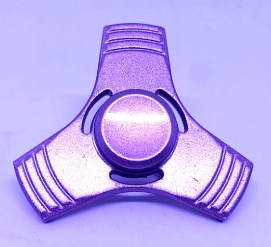 Hand Spinner de Metal Liso Rosa com furo - Rolamento Anti Estresse Fidget Hand Spinner