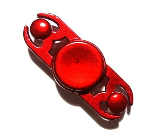 Hand Spinner de Metal Vermelho 2 pontas - Rolamento Anti Estresse Fidget Hand Spinner