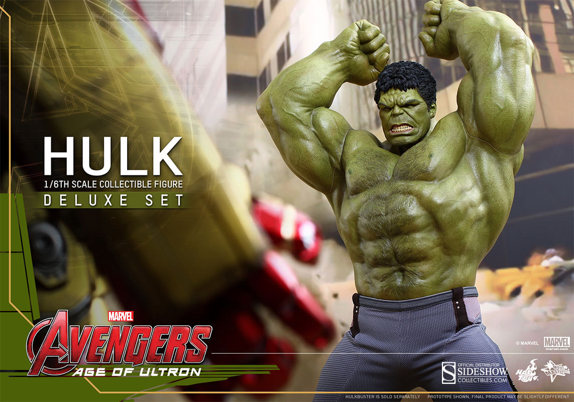 Hulk Age of Ultron Movie Masterpiece Deluxe Set Escala 1/6 - Hot Toys  - Toyshow Colecionáveis