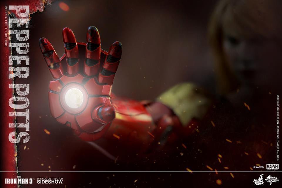 Boneco Pepper Potts: Homem de Ferro 3 (Iron Man 3) Escala 1/6 - Hot Toys - CD