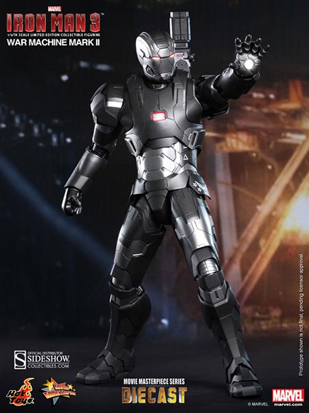 Iron Man 3: War Machine (Homem de Ferro 3: Máquina de Combate) Mark II Escala 1/6 -  Hot Toys