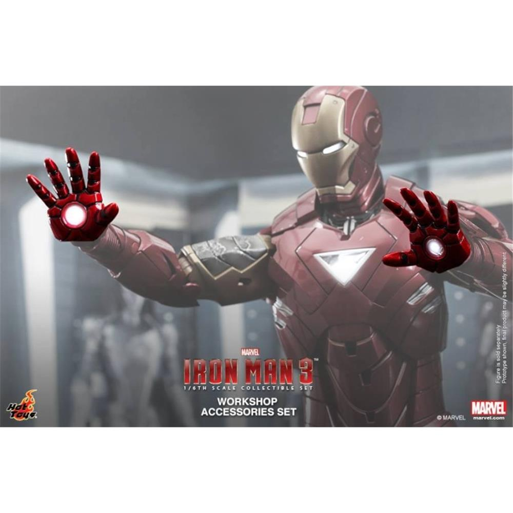Iron Man 3 Workshop Accessories Set - Hot Toys  - Toyshow Colecionáveis