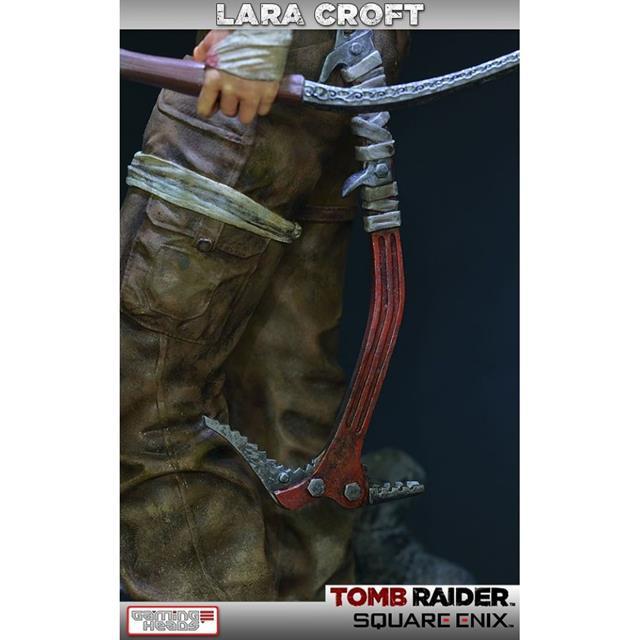 Lara Croft Survivor Statue Tomb Raider - Gaming Heads  - Toyshow Colecionáveis