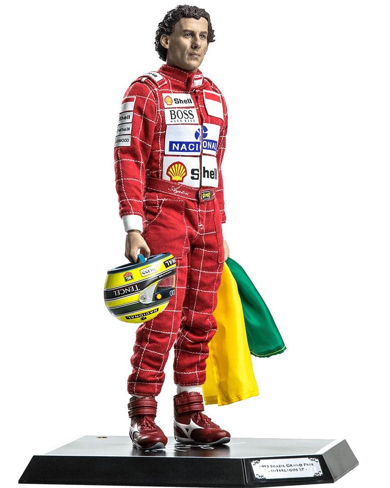 Miniatura Action Figure Ayrton Senna 1993 Brazil Grand Prix 1/6 Live Legend- Iron Studios - CD