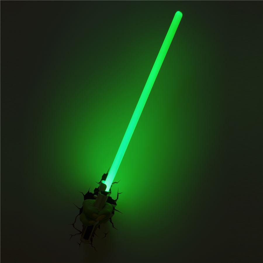 Luminária Star Wars Mão com Sabre Yoda - 3D ligtht FX