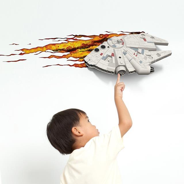 Luminária Star Wars Millenium Falcon - 3D ligtht FX  - Toyshow Colecionáveis