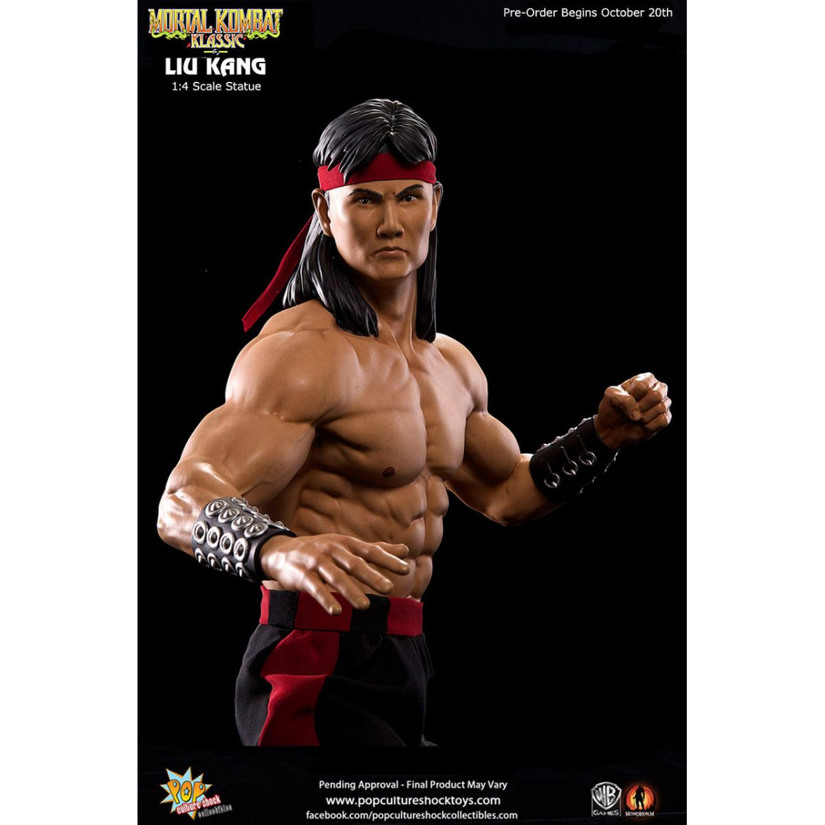 Mortal Kombat: Liu Kang Estátua Escala 1/4 - Pop Culture Shock