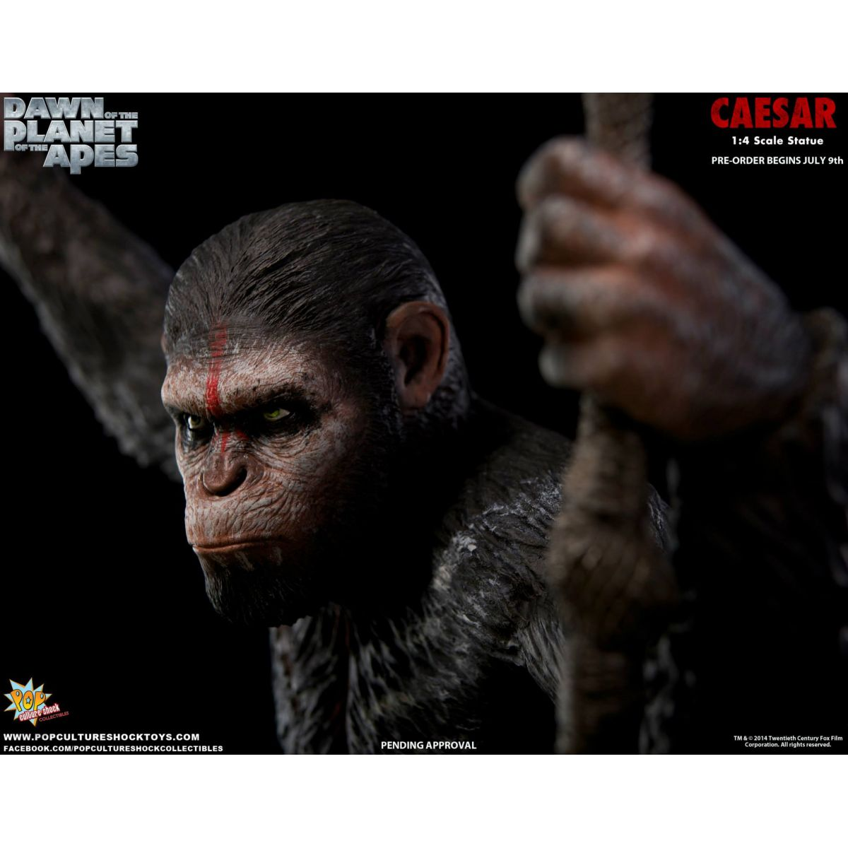 Estátua César (Caesar): Planeta dos Macacos: O Confronto Escala 1/4 - Pop Culture Shock - CD