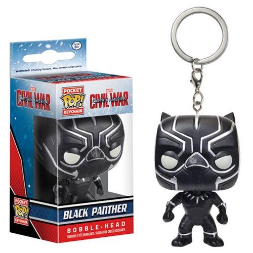 Pocket Pop! Keychains Capitão América 3 Guerra Civil: Black Panther (Pantera Negra) - Funko