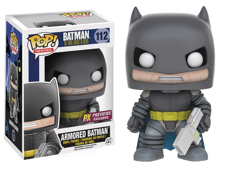 POP! DC Comics: The Dark Knight Returns: Armored Batman Exclusivo #112 - Funko