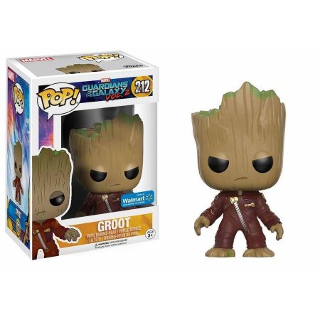 POP Movies: Guardians of the Galaxy 2, Angry Ravager Groot #212 Exclusivo (Apenas Venda Online)