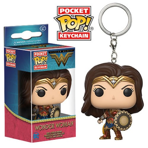 PRÉ VENDA: Pocket Pop Keychains (Chaveiro): Mulher Maravilha (Wonder Woman) Filme - Funko