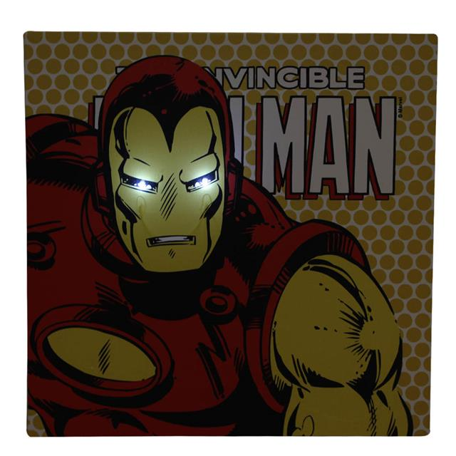 Quadro Canvas com LED Iron Man - Zona Criativa