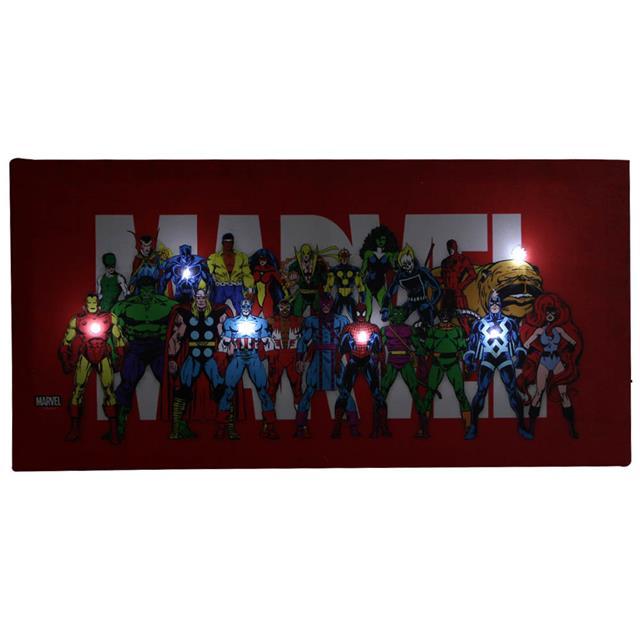 Quadro Canvas com LED Marvel - Zona Criativa  - Toyshow Colecionáveis