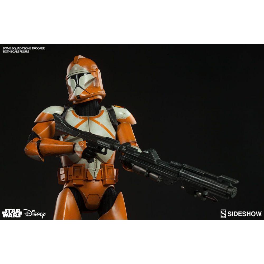 Boneco Clone Trooper Bomb Squad: Star Wars Escala 1/6 - Sideshow - CD
