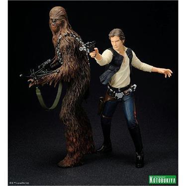Star Wars Han Solo e Chewbacca ArtFX Estátua - Kotobukiya