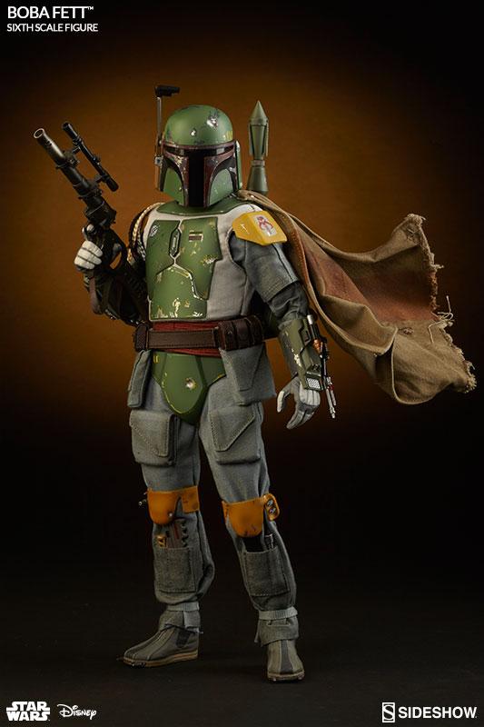 Star Wars The Empire Strikes Back: Boba Fett Escala 1/6 - Sideshow  - Toyshow Colecionáveis