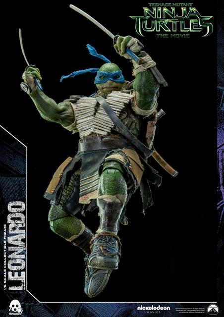 Boneco Leonardo: Tartarugas Ninjas (Filme) Escala 1/6 - Threezero - CD