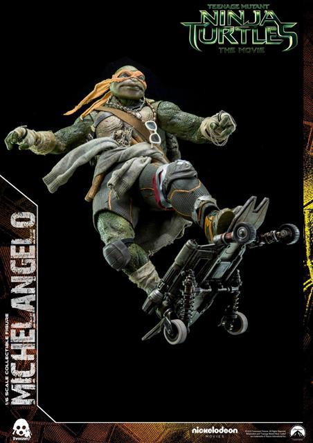 Boneco Michelangelo: Tartarugas Ninjas (Filme) Escala 1/6 - Threezero - CD