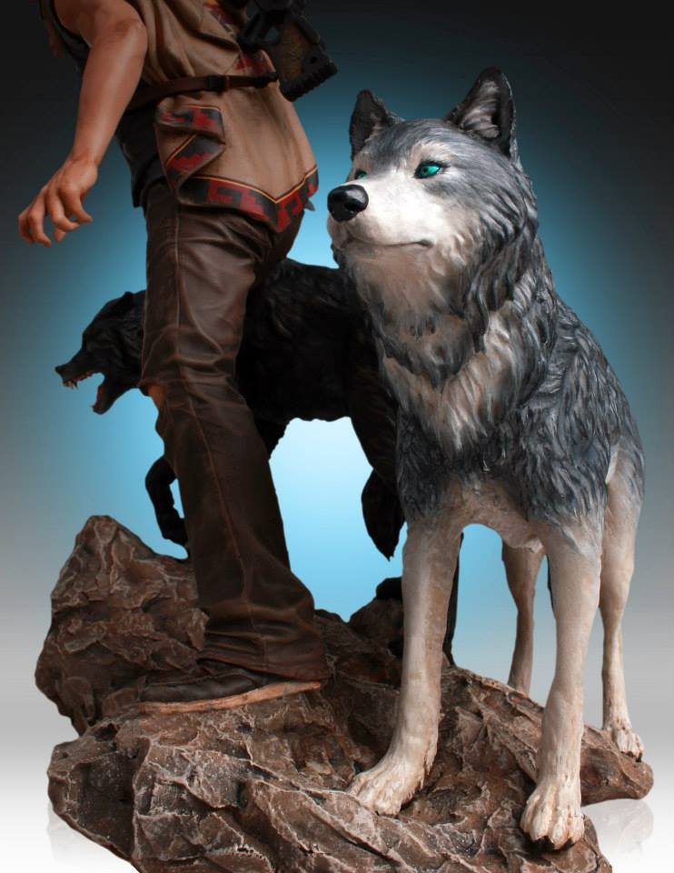 The Walking Dead Daryl And The Wolves Estátua - Gentle Giant