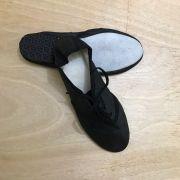 Sapato Jazz Com Cadarço Sintético  9925 BRANCO e PRETO