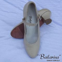 Sapato para Dança em Couro 229 PRETO e BEGE