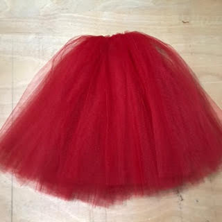 Tutu Romântico Vermelho Q60 C50