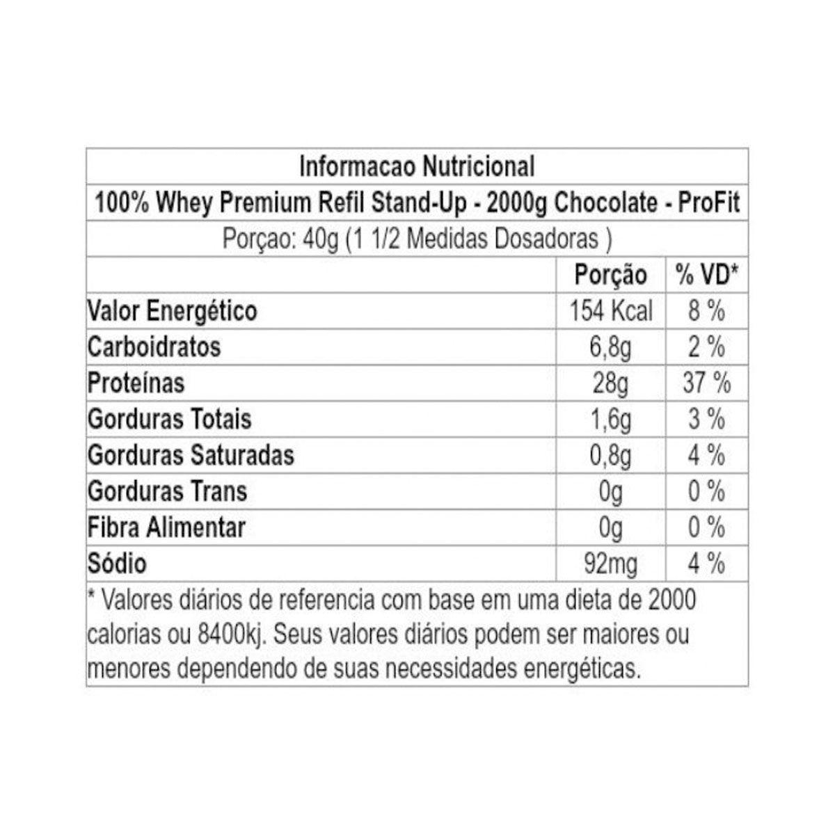 100% Premium Whey Refil 2kg - Profit