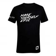 Camiseta Algodão Make Yourself Epic Preta - Probiótica