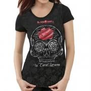 Camiseta Feminina Carol Saraiva -  Black Skull