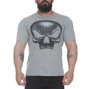 Camiseta Caveira Flex Cinza - Black Skull