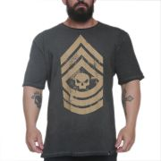 Camiseta Military Grafite - Black Skull