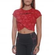 Cropped Transpassado Vermelho - Black Skull Clothing