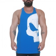 Regata Azul Big Skull Worn - Black Skull