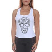 Regata Mexican Skull Branco - Black Skull