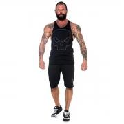 Regata Tech Skull Preto - Black Skull Clothing