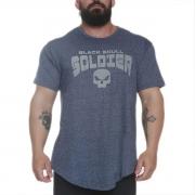 T-Shirt Azul Skull Soldiers - Black Skull