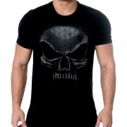 T-Shirt Preto Flex Wheeler - Black Skull