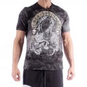 T-shirt Skull And Dragon Preta - Black Skull Clothing
