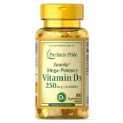 Vitamin D3 10000 UI 100 Softgels - Puritan's Pride