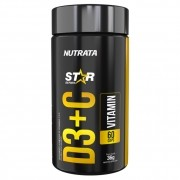 Vitamina Vit D3 + C Star Series 60 Cápsulas - Nutrata