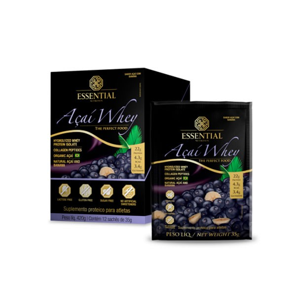 Açaí Whey 12 saches/35g - Essential Nutrition