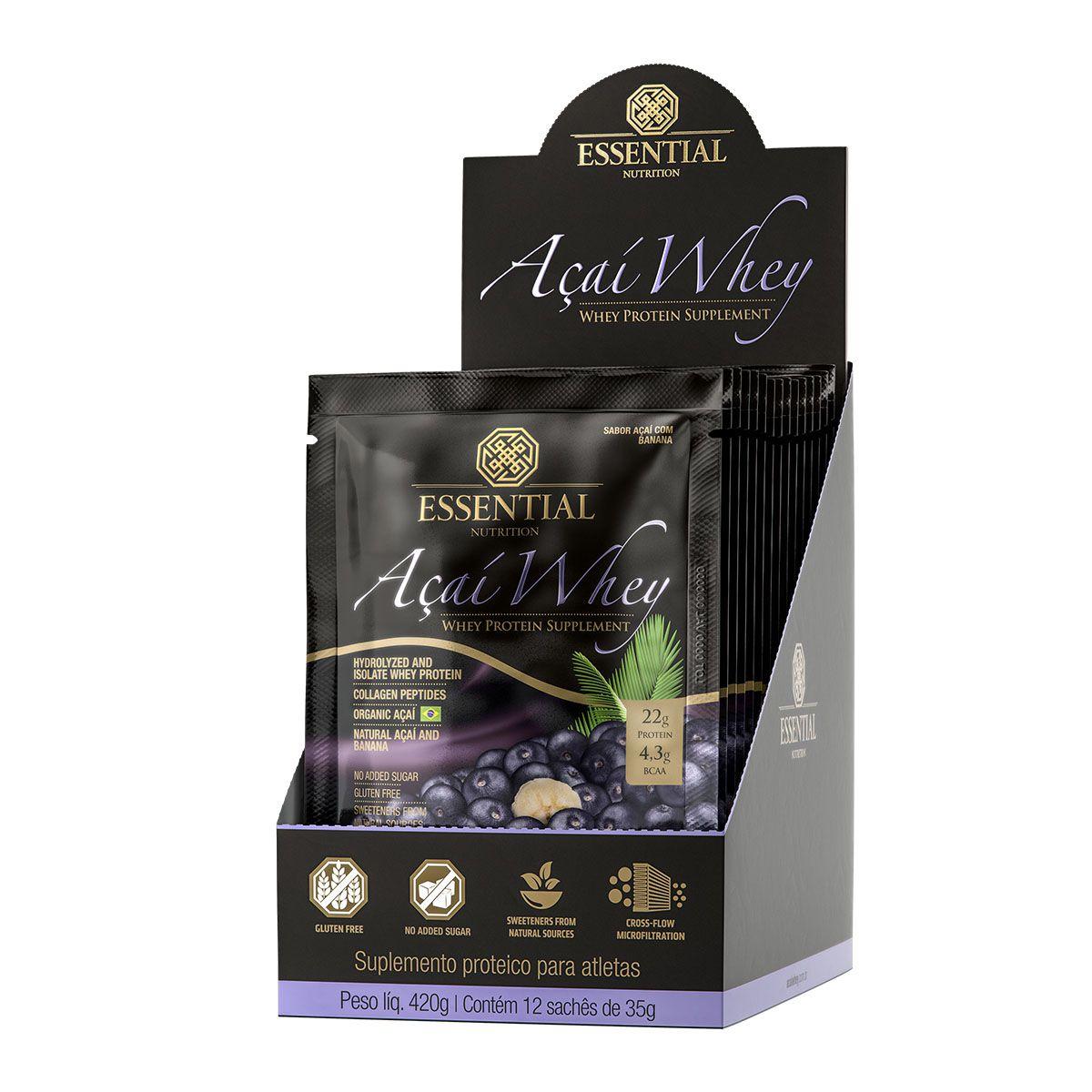 Açaí Whey 12 saches/35g - Essential Nutrition