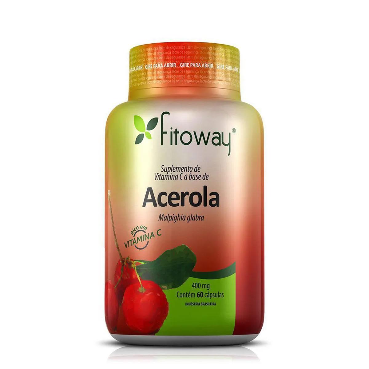 Acerola 400mg 60 Cáps - Fitoway