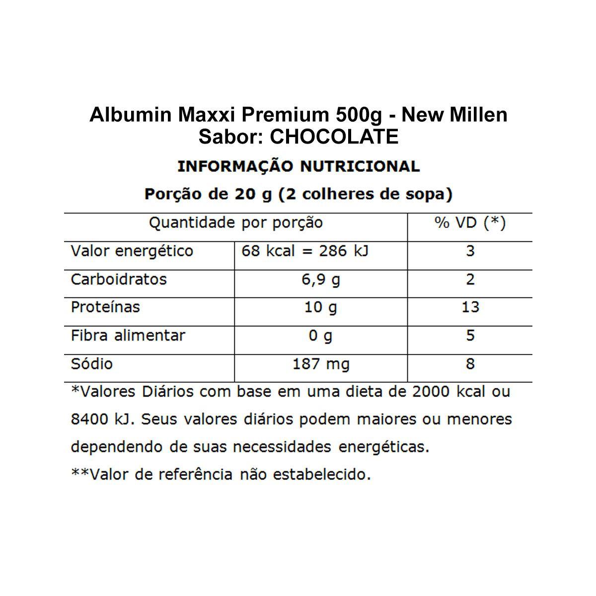 Albumin Maxxi Premium 500g - New Millen