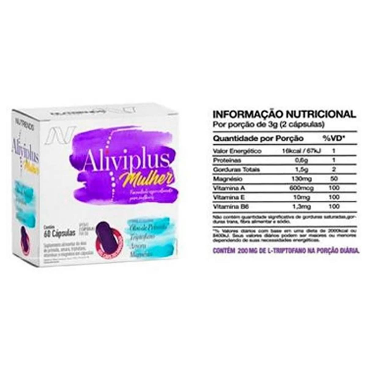 Aliviplus Mulher - 60 cápsulas - Nutrends