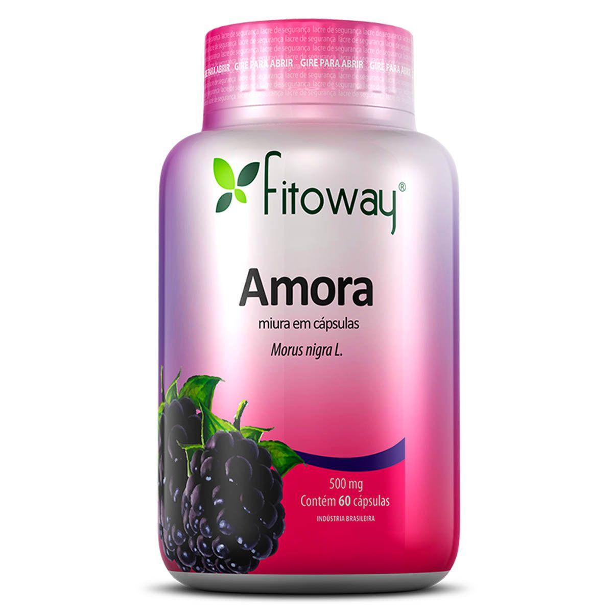 Amora 500mg 60 cápsulas - Fitoway