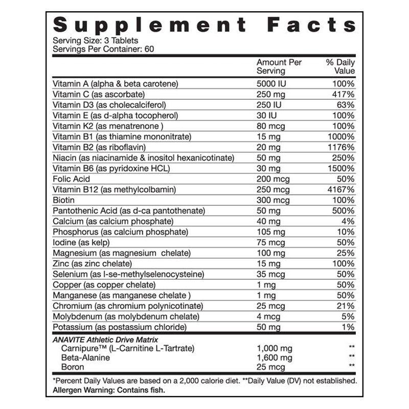 Anavite - 180 Tabletes - Gaspari Nutrition